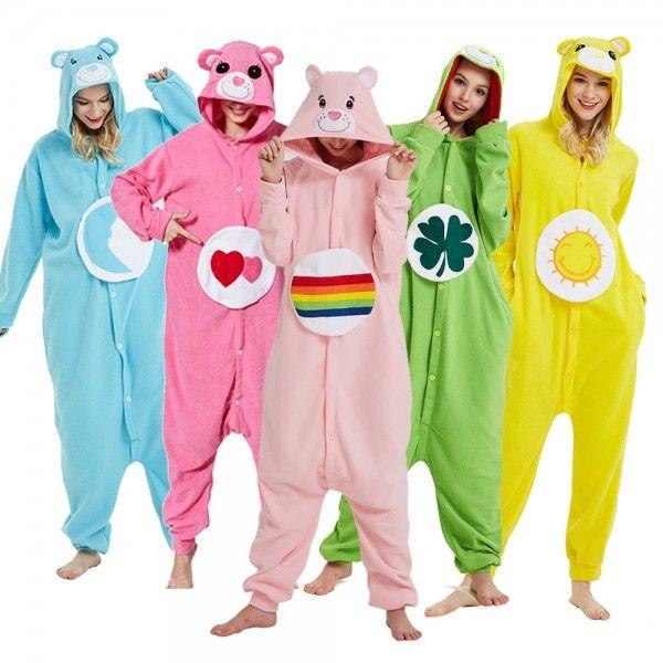 Care Bear Onesie Pajamas Adult Animal Onesies Halloween Costumes #carebearcostume