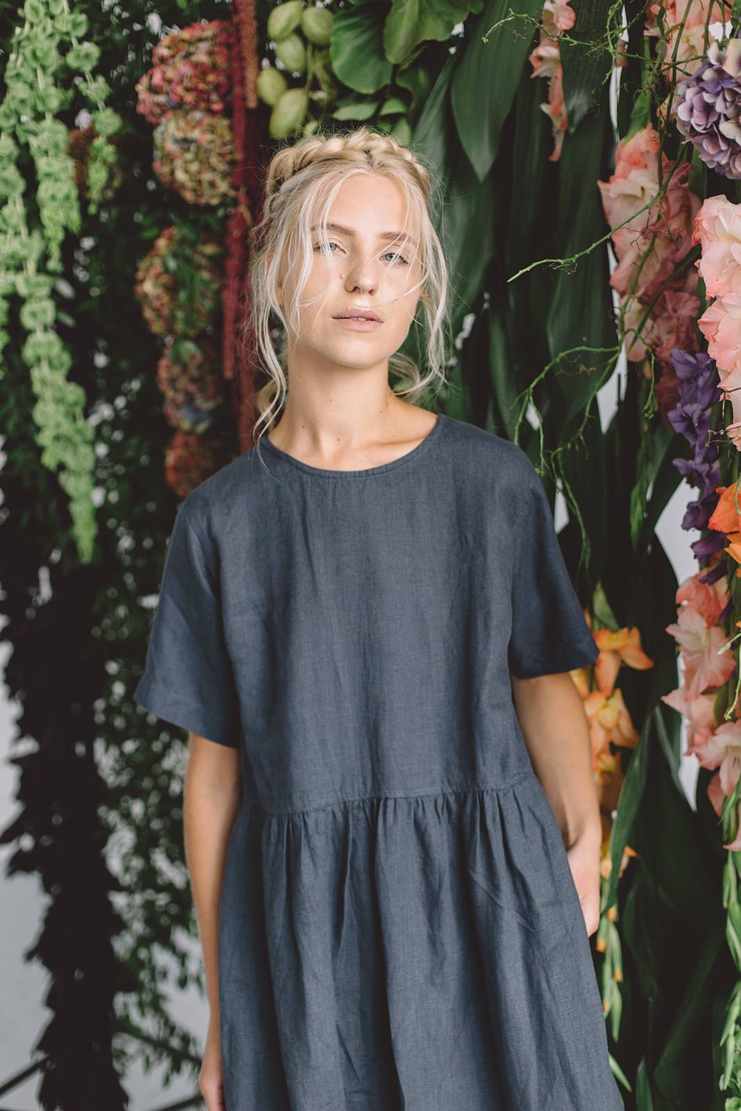 Anna Dress Summer Linen Dress Oversized Linen Dress Smock Dress Loose Linen Dress Summer Linen Dresses Anna Dress Everyday Dresses [ 1600 x 1067 Pixel ]