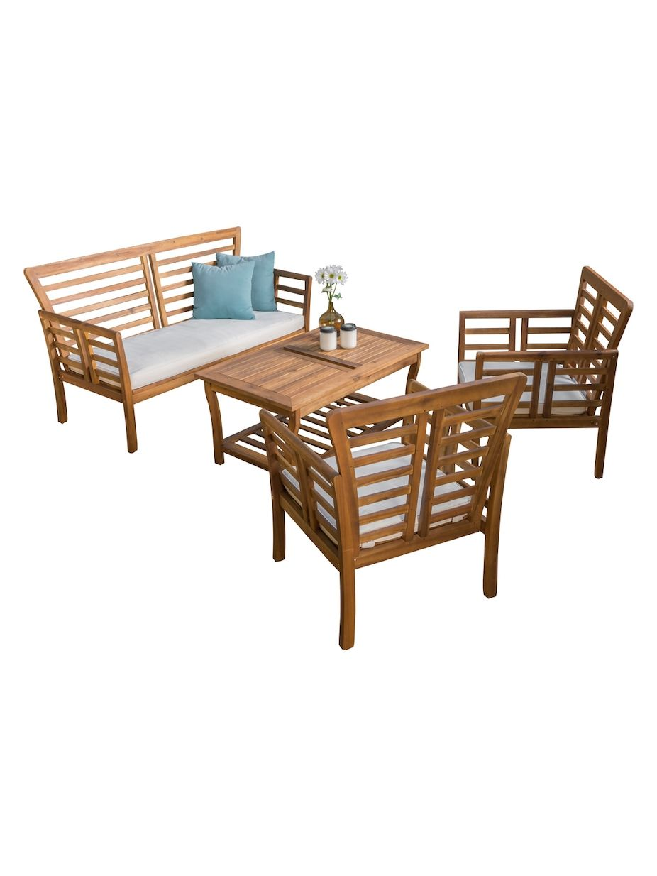 Nfusion Outdoor Caydon Wood Patio Set 4 Pc Nfusionoutdoor