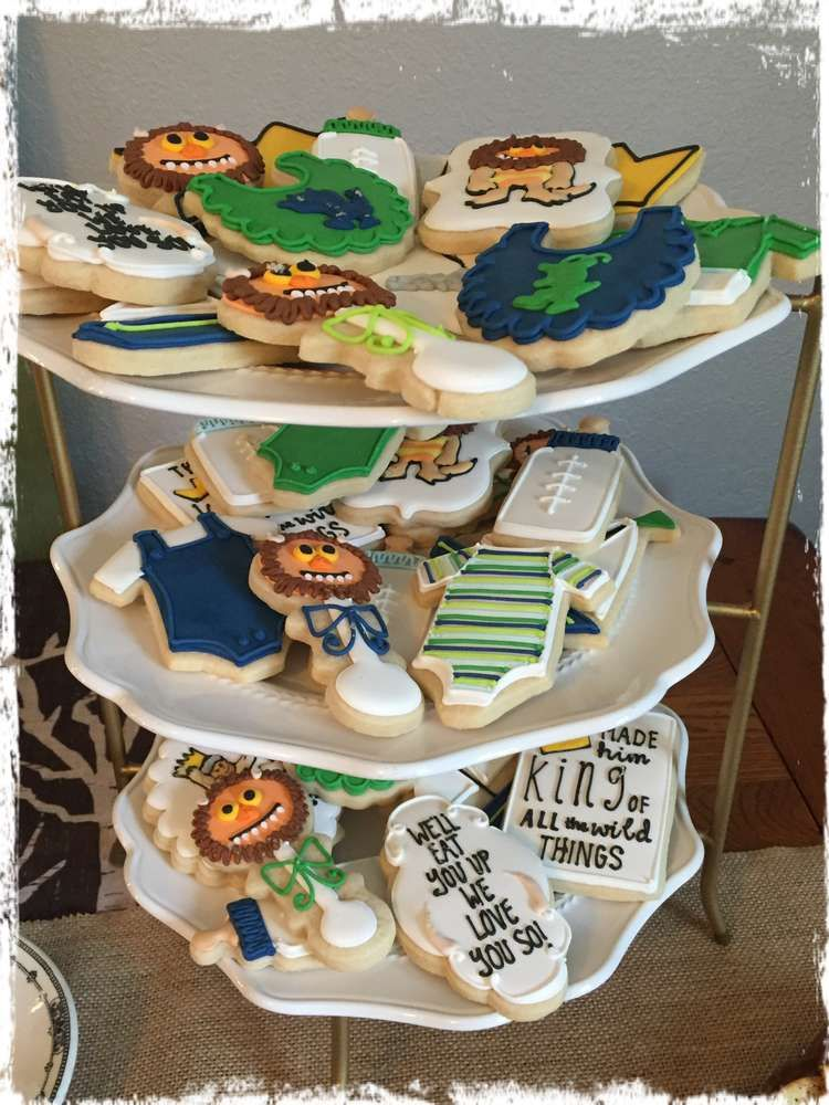 Amazing Cookies At A Where The Wild Things Are Baby Shower Party! See More  Party