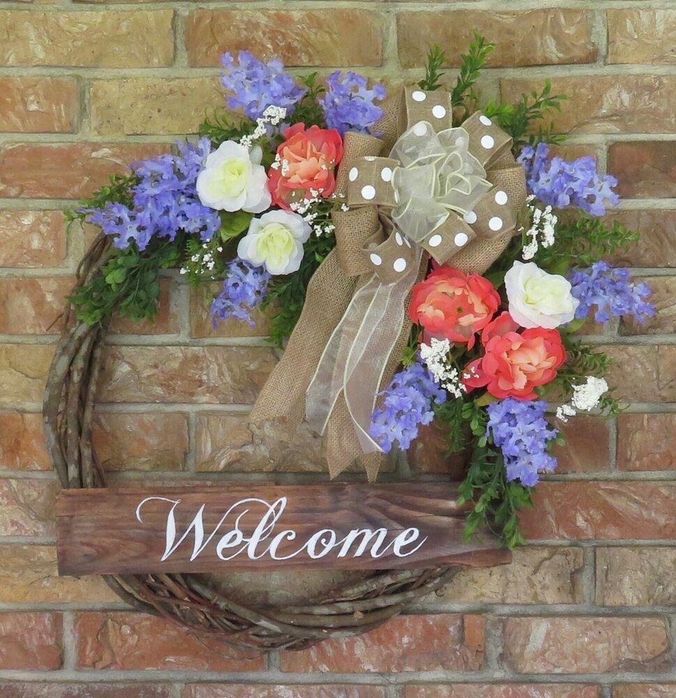 Photo of Flower farm wreath, summer spring wreath, grapevine wreath, #BarbaraCentan …