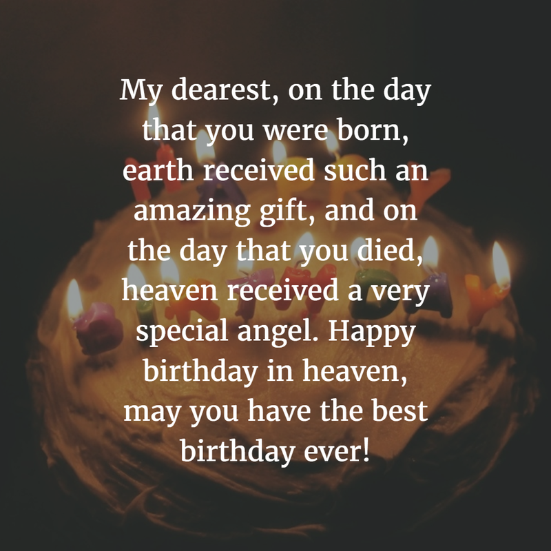 Sweet birthday quotes for dead husband
