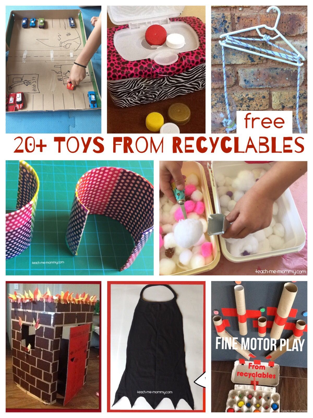 20 Toys Made From Recyclables