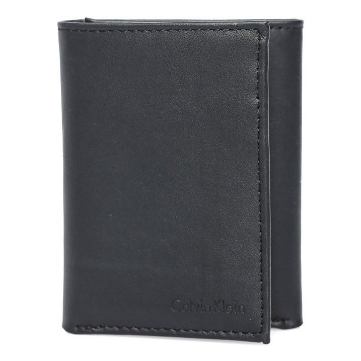 Calvin Klein Leather Trifolder walletsnbsp; 9 card holder black