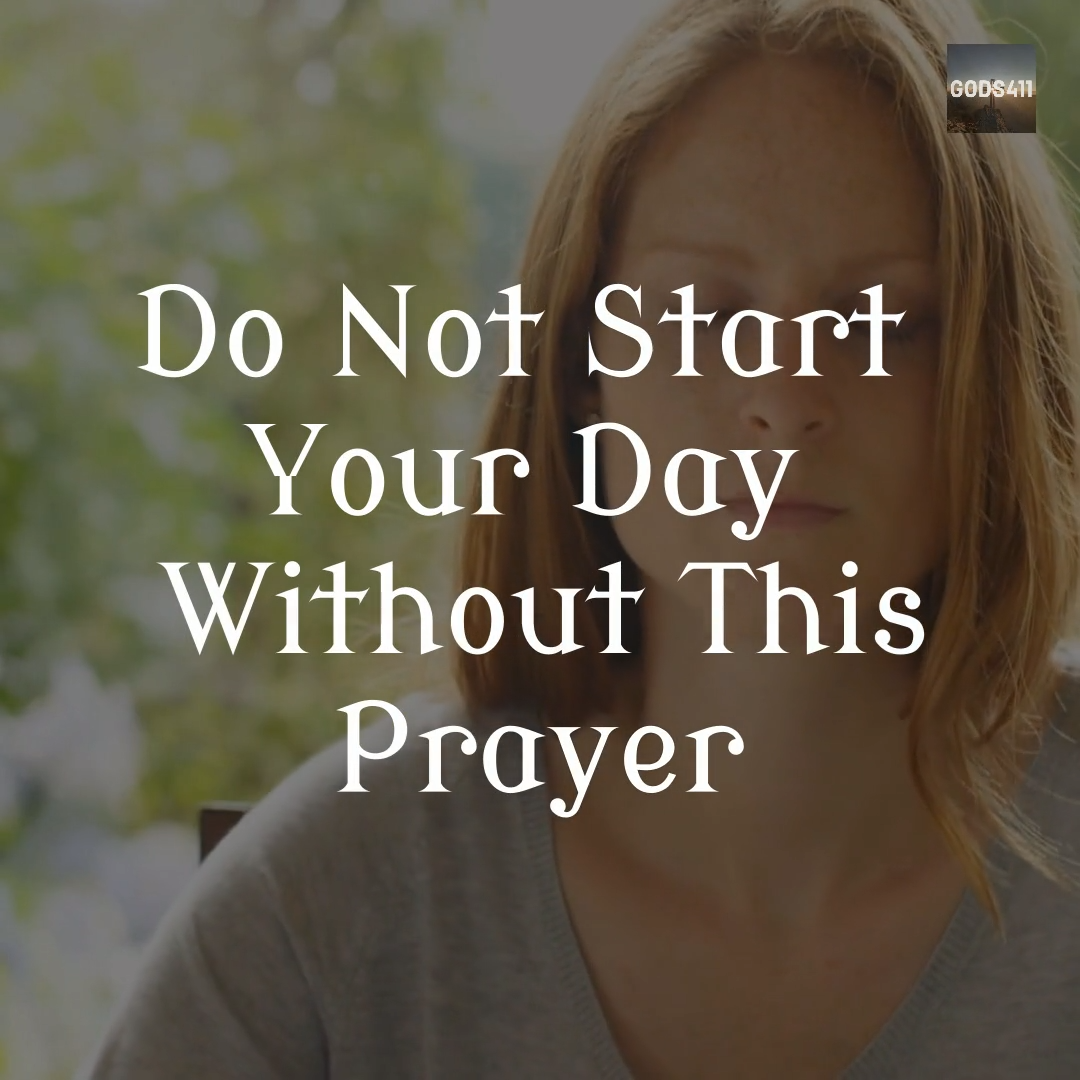 STOP! Pray This 3 Minute Prayer Today