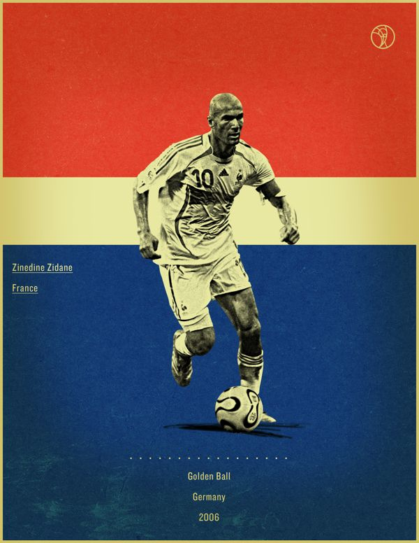 Retro Style Poster Series Of The World Cup Golden Ball Winners Soccer Poster World Cup Retro Football