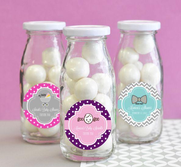 Personalized Baby Shower Milk Bottles