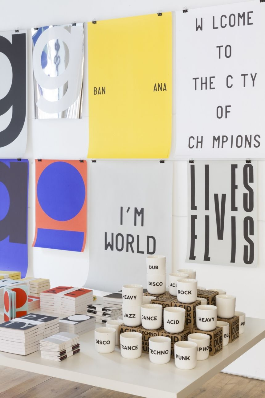 Scandinavian Typographic Cool Comes To London With A Pop Up Store By Playtype Pop Up Store Pop Up Shop Design Store