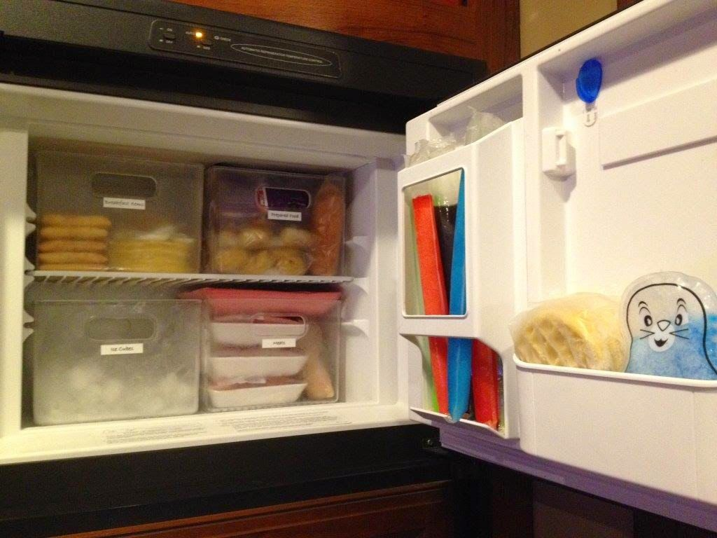 How to organize an rv freezer rving liferidingshotgun for Rb storage