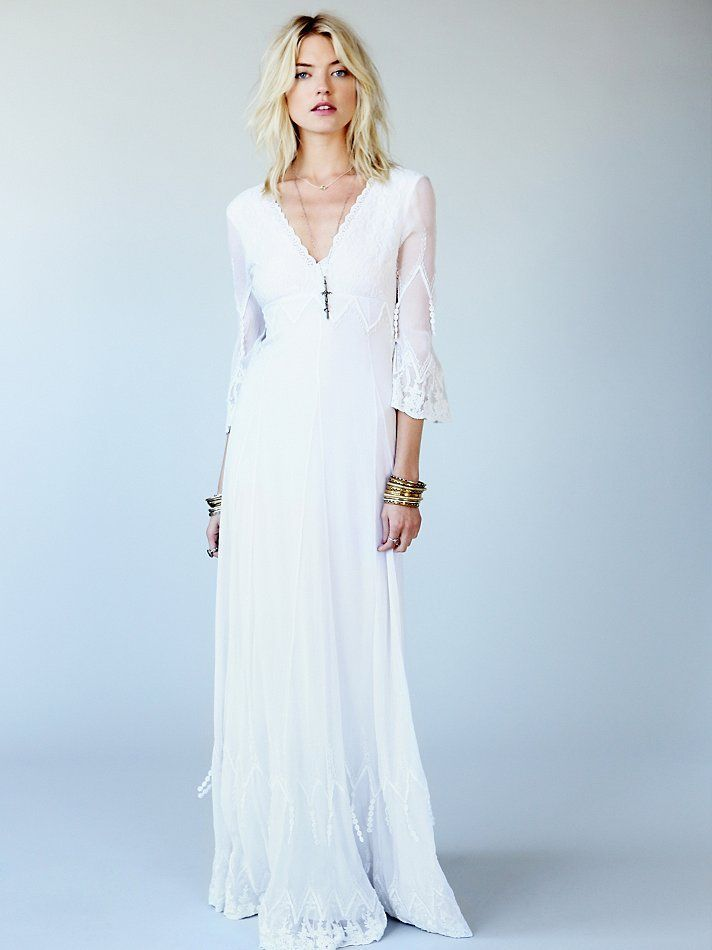 Free People Mystic Gown, £500.00 | Boho Bride | Pinterest ...