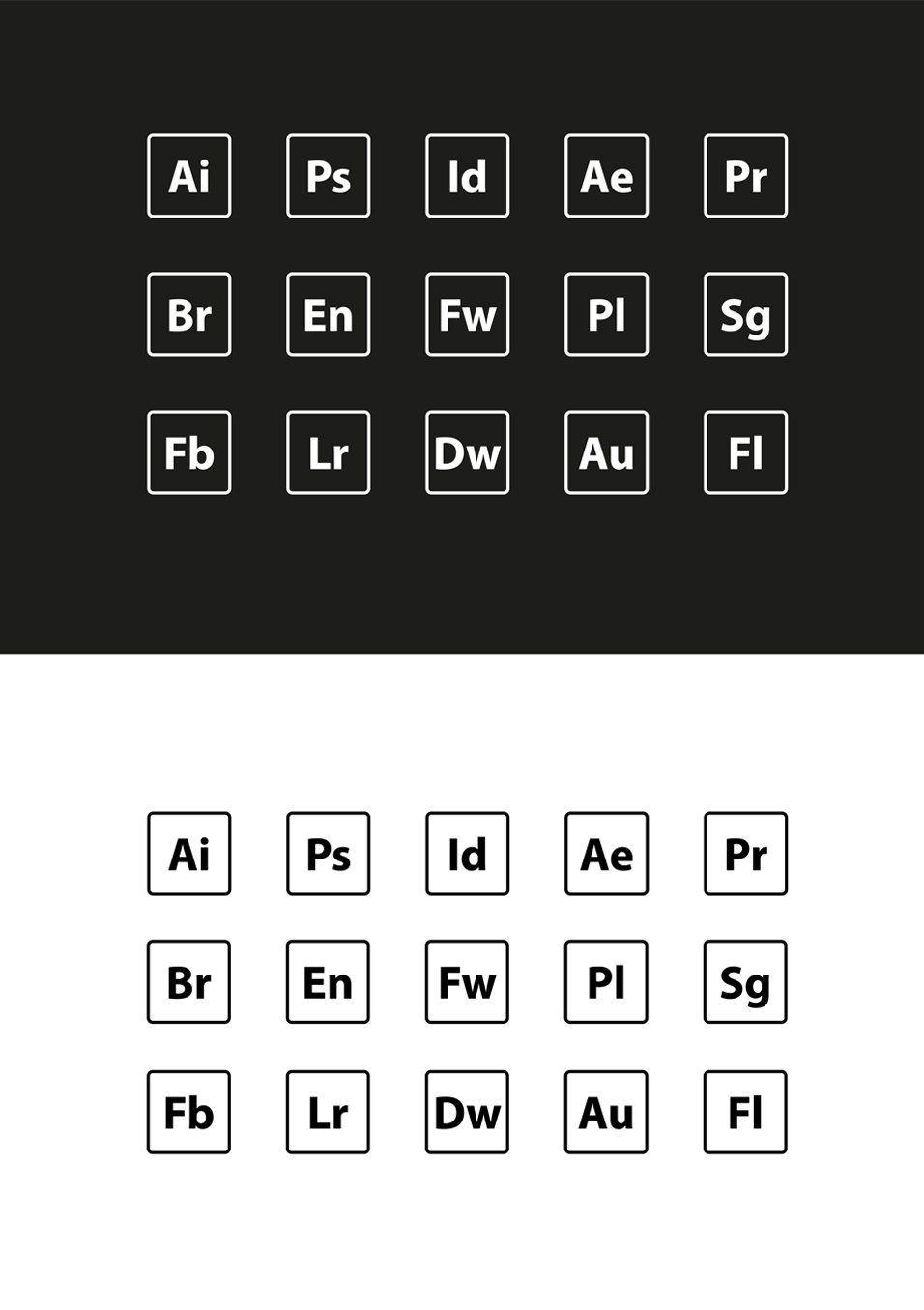 adobe icons