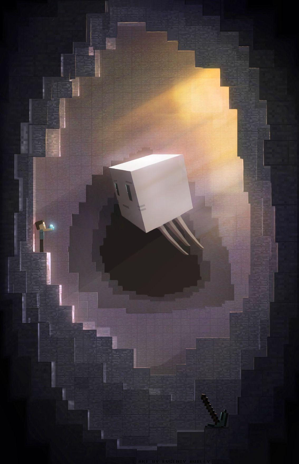Cubic cave   Minecraft  byEvgeniy Bubley(TakeOFFFLy)