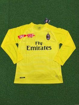 df7f0fcb4a4 2018-19 Cheap Goalie Jersey AC Milan Yellow LS Replica Soccer Shirt [DFC206]