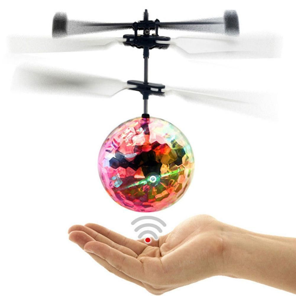 $3.69   Infrared Induction Flash Flying Ball Colorful Led Disco Rc  Helicopter Toy Mt #ebay #Collectibles