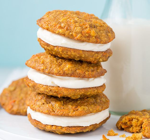 Carrot Cake Cookies | 14 Dreamy Carrot Cake Recipes | Healthy And Delicious DIY Desserts, Definitely Worth A Try : http://homemaderecipes.com/14-carrot-cake-recipes/