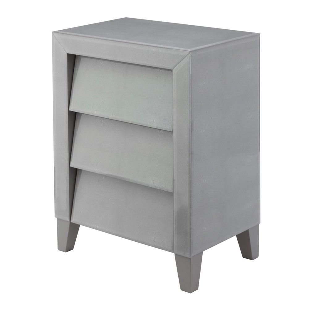 Best Rv Astley Colby Soft Grey Shagreen Bedside Table Grey 400 x 300
