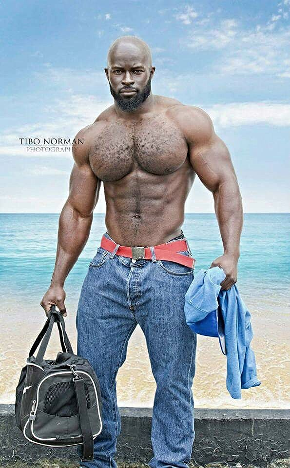 hairy black big muscle hot