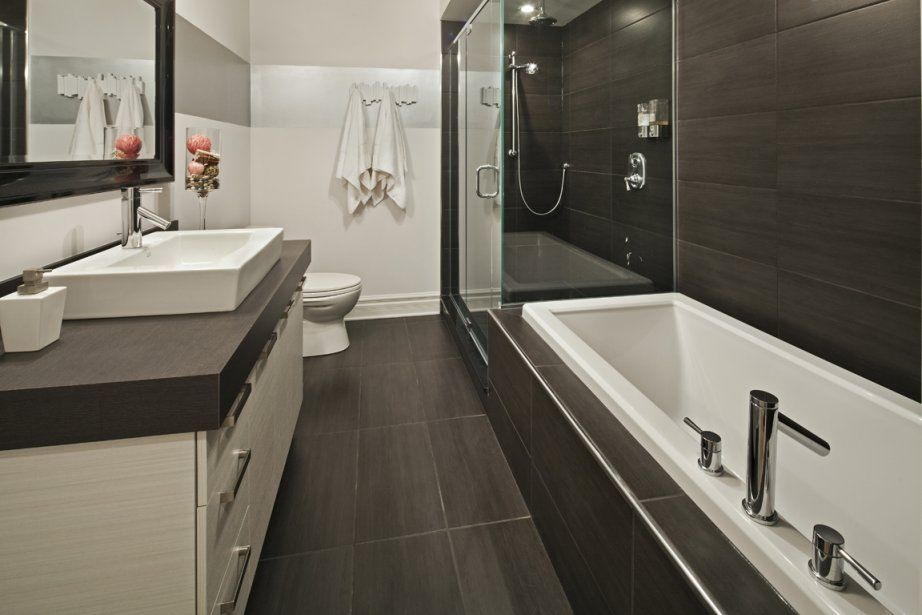 Salle de bain baignoire et douche petit espace recherche for Douche petite salle de bain