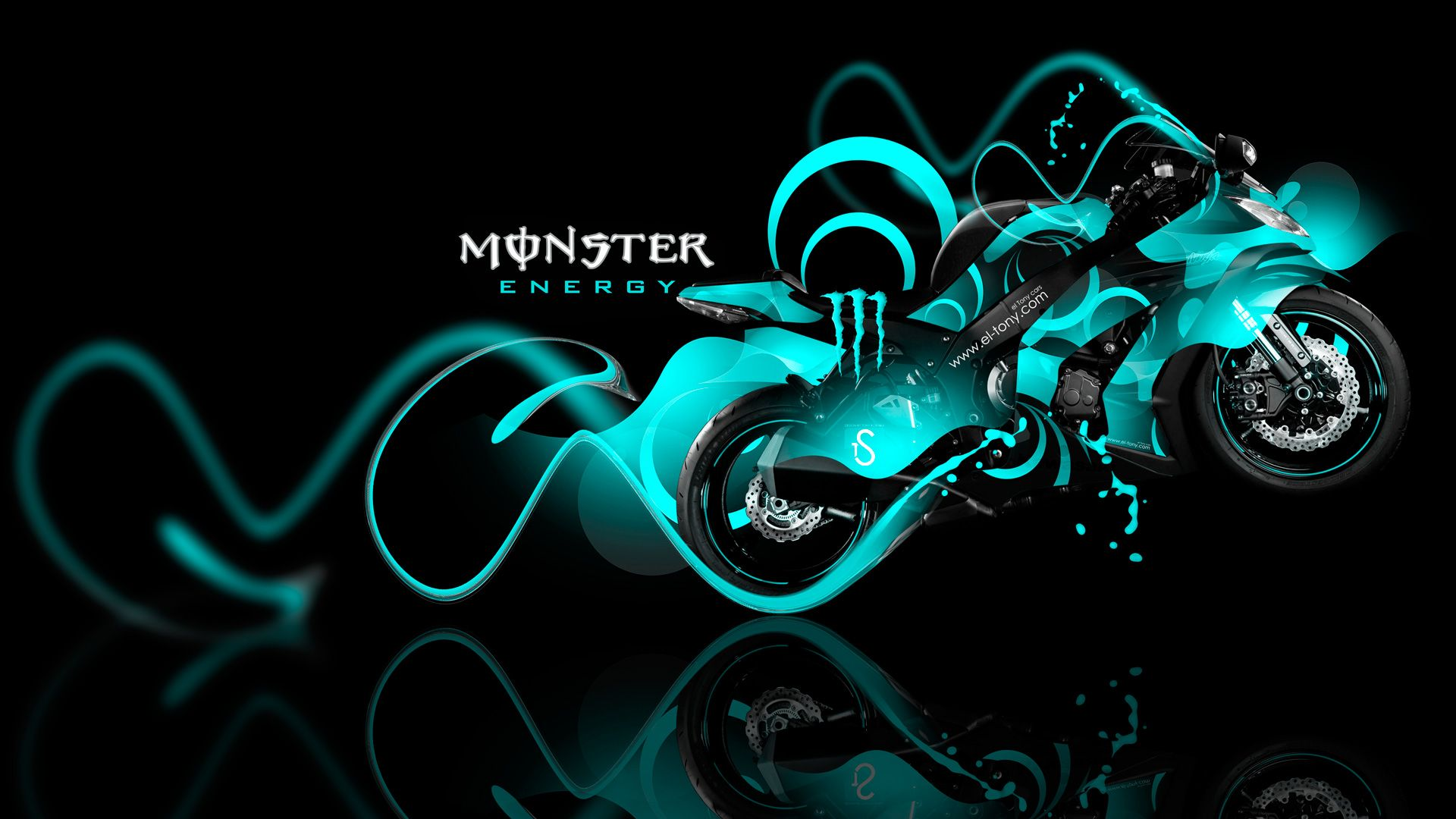 Monster Energy Kawasaki Ninja Azure Plastic Bike 14 Design By Tony Kokhan Www El Tony Com Jpg 19 1080