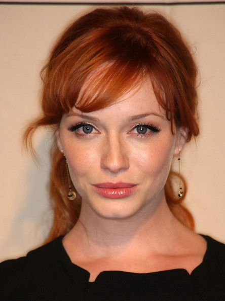 Christina Hendricks Photos Photos Tv Academy Honors Emmy Nominees For Outstanding Writing Hairstyles With Bangs Redhead Makeup Red Hair