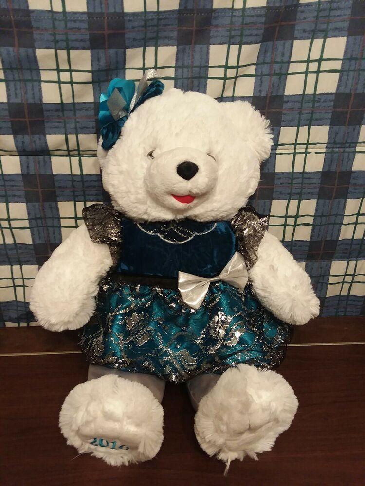 "2017 20/"" WALMART CHRISTMAS Snowflake TEDDY BEAR Boy New Blue Robe"