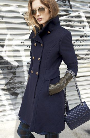 Have a similar coat, so warm♥ Trina Turk Double Breasted ...