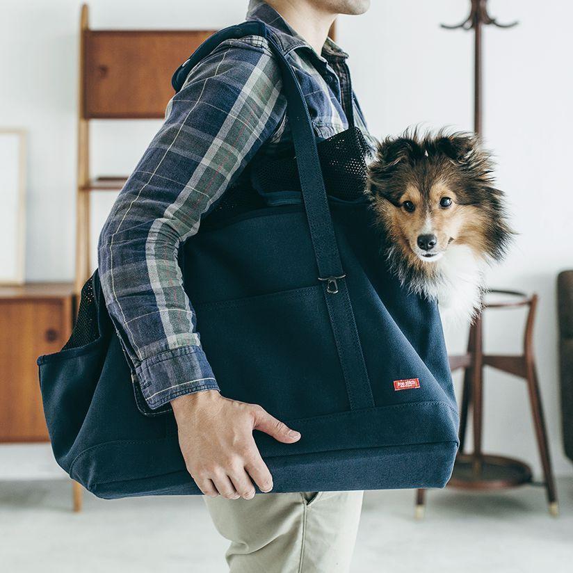 犬キャリーバック Carry Bag キャリーバッグ上部が常にメッシュなので夏にかけても活躍 Free Stitch 犬 キャリーバッグ スクエアトート Lサイズ キャリーバック Carry Bag Free Stitch 中型犬 キャリーバッグ おしゃれ 犬 キャリー