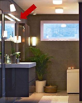 IKEA Godmorgon Vanity Light ~ Wall Shelf & Light Bath Fluorescent ...