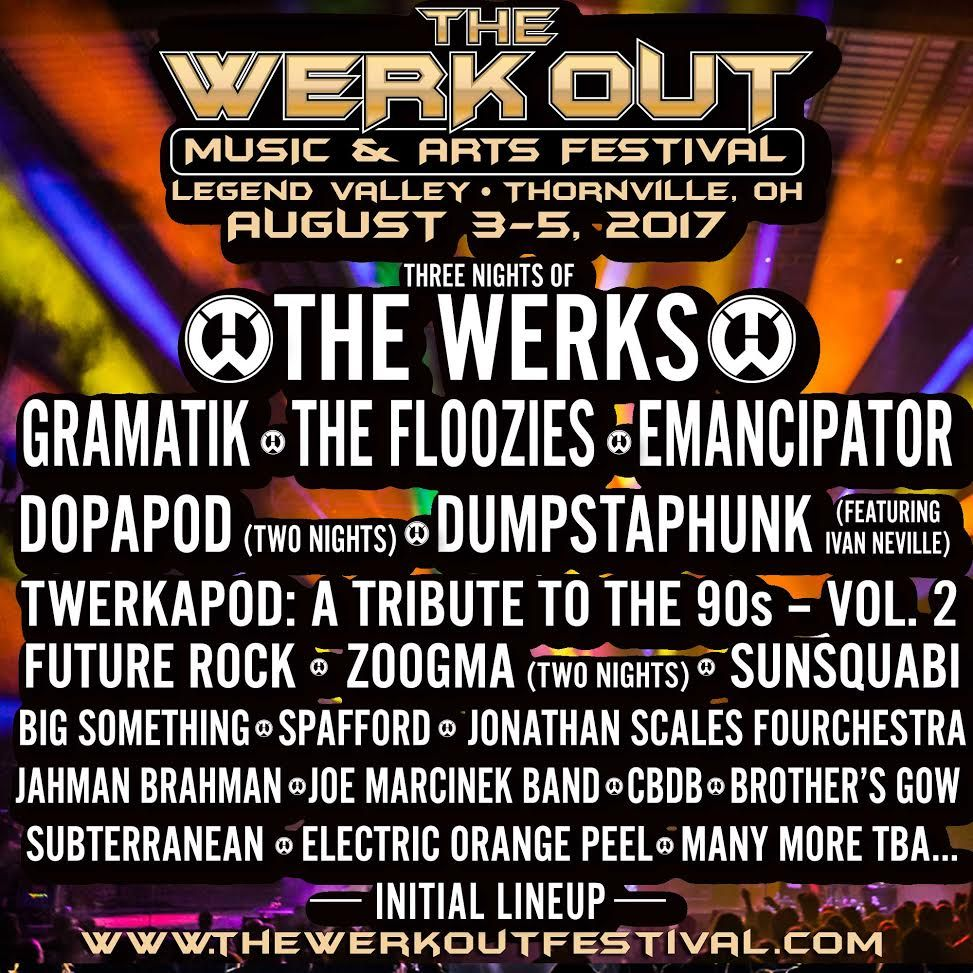 The Werk Out Festival Initial Lineup Announcement Legend Music Festival Announcement