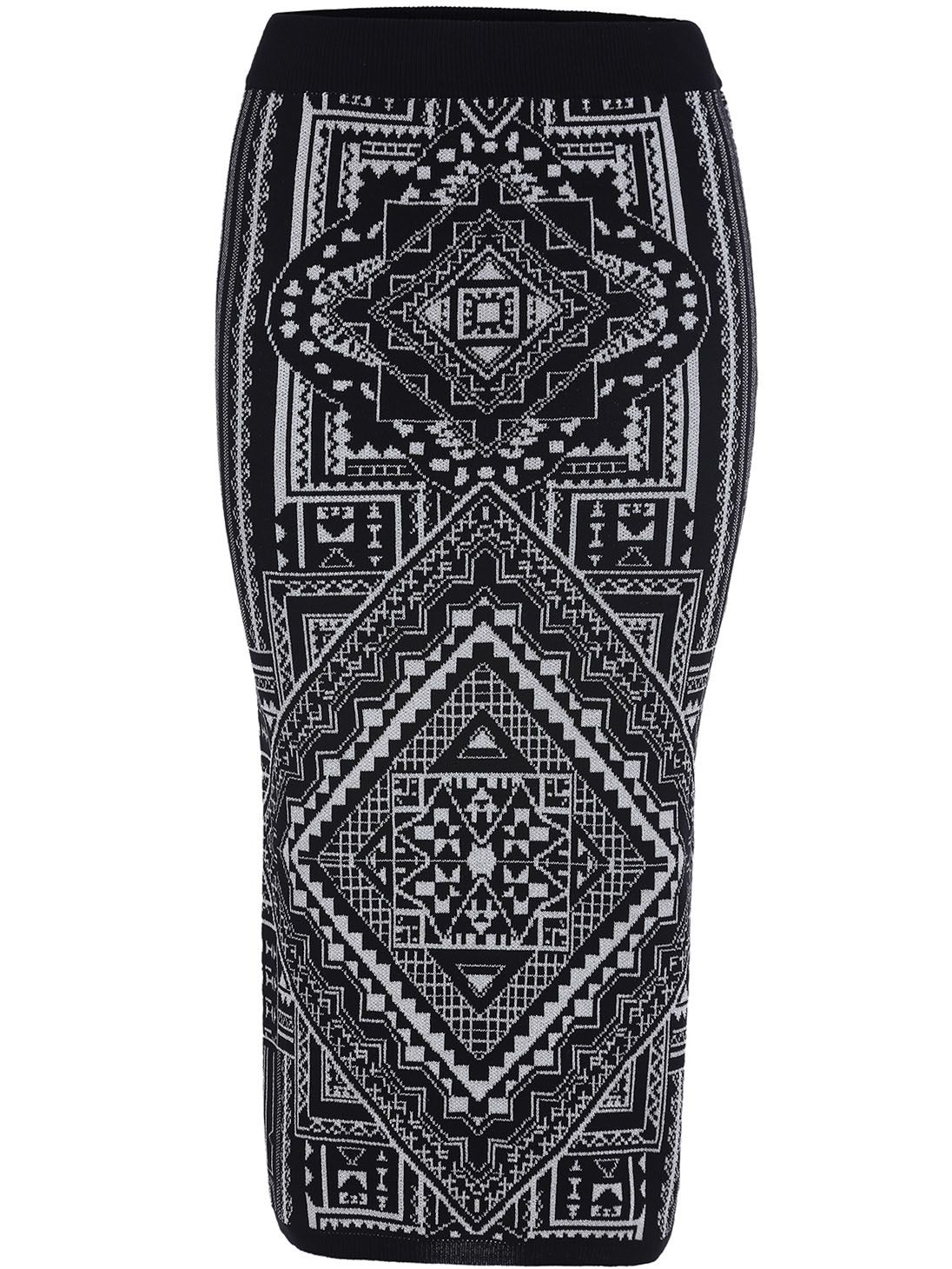 Black geometric tube skirt #fashion #style #skirt