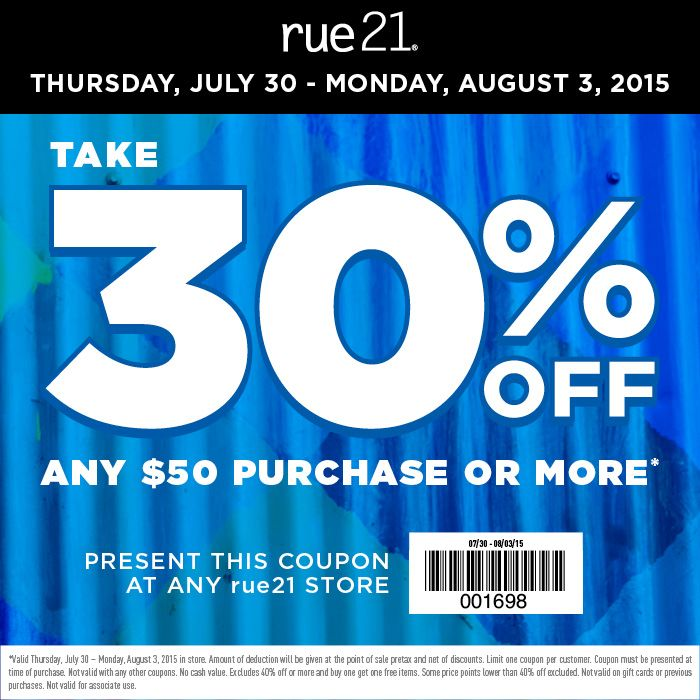 Thursday, July 30 u2013 Monday, Aug 3 30 off any $50 purchase or - coupon disclaimers