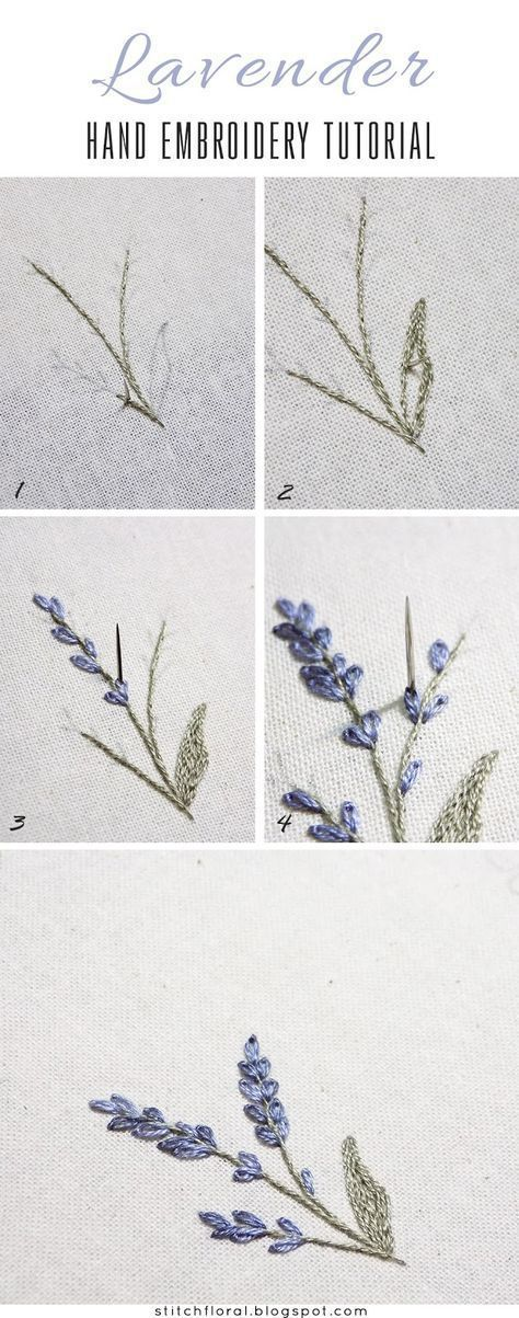 Photo of Lavender: embroidered miniature