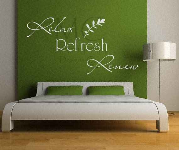 bathroom sign relax refresh renew wall decal bath sign spa salon decals master bedroom wall decal relax decals spa wall decals refresh