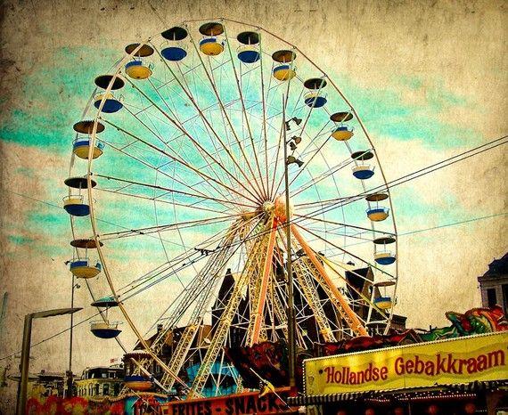ferris wheel in dam square fine art photograph... etsy eyeshuttertothink... $18
