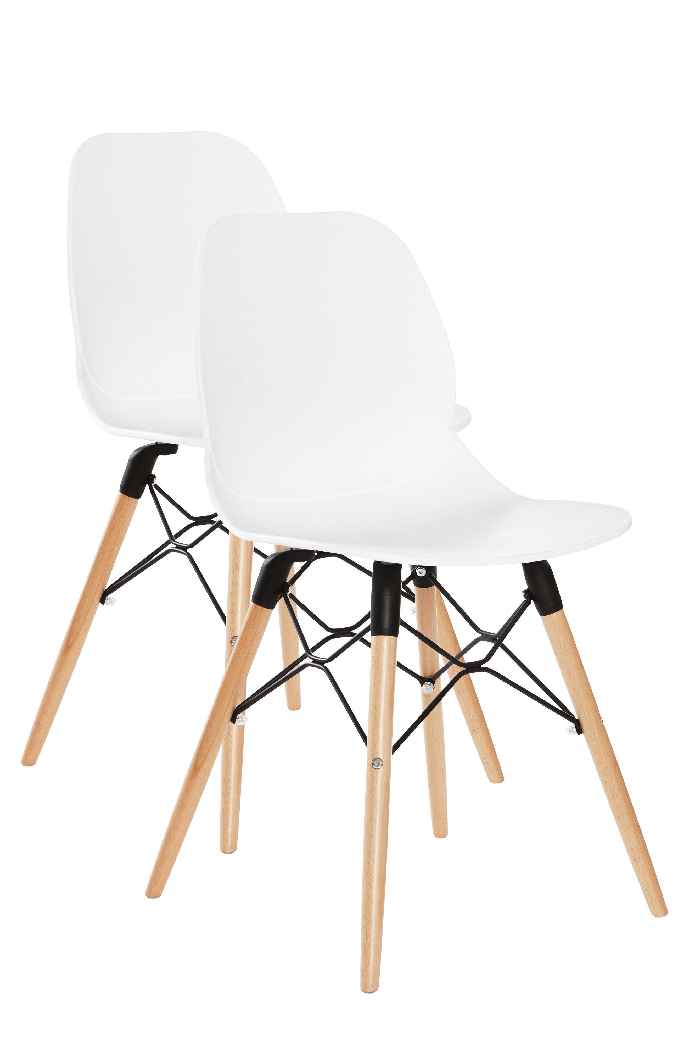 Modernit pyöreälinjaiset tuolit, joissa on mukava istua. Tuolit ovat siroja ja sopivat niin ruokapöydän ääreen kuin eteiseenkin. Materiaali: Muovia ja puuta, runko metallia. Koko: Korkeus 82,5 cm, leveys 45,5 cm, syvyys 49 cm, istuinkorkeus 45 cm. Kuvaus: Tuolit, joissa muotoonvalettu istuinosa polypropeenia, jalat pyökkiä ja metallia. Osittain koottavat. Suunnittelija: Chen Zhiyi Hoito-ohje: Puhdistuskostealla liinalla pyyhkimällä. Vinkki: Yhdistä tuoleihin eri värejä ja materiaaleja, niin…