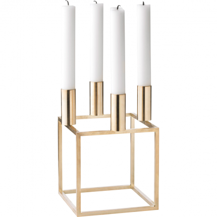 Kubus 4 Candle Holder Brass Candle Holders Scandinavian Candle Holders Scandinavian Furniture