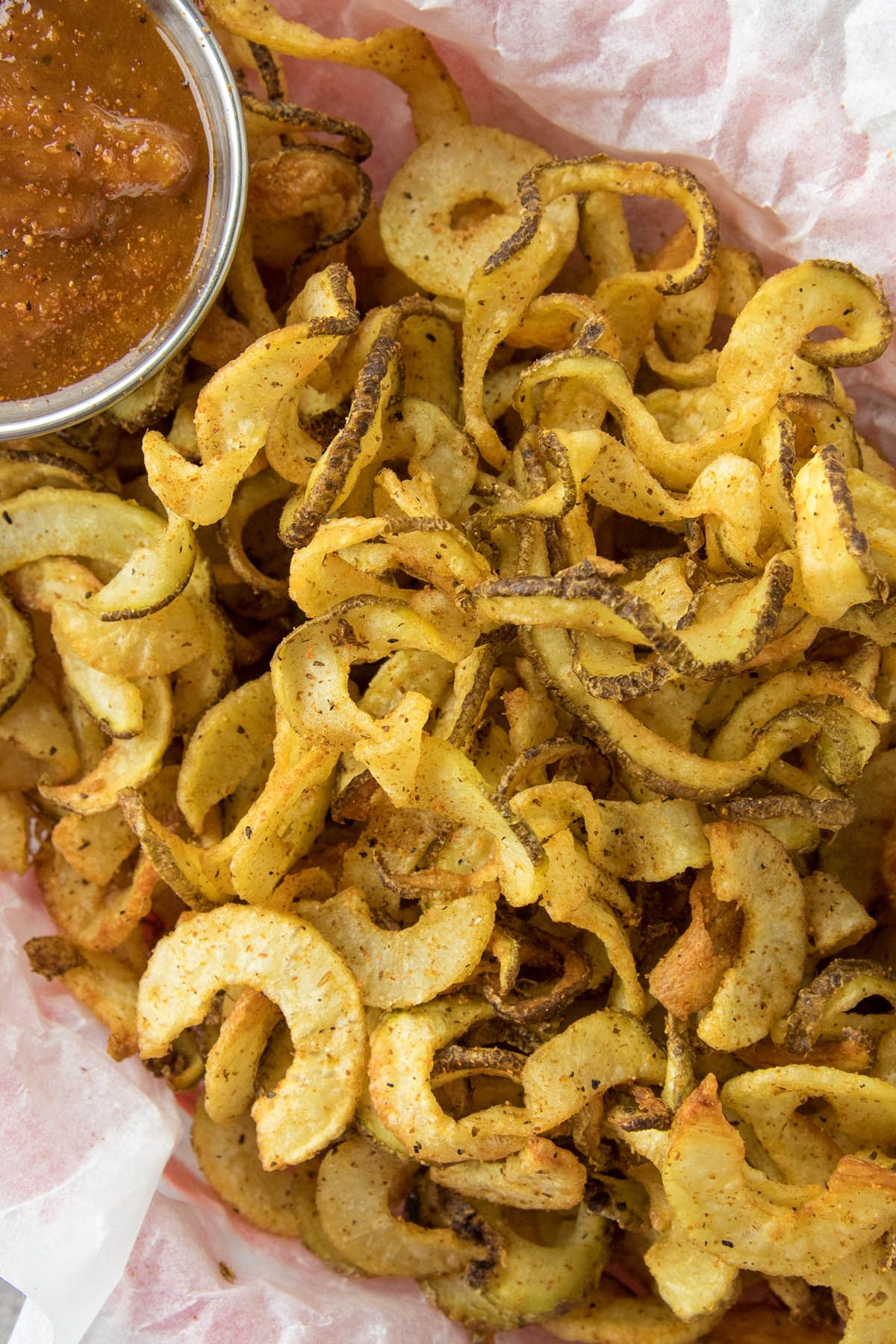 Homemade Air Fryer Cajun Curly French Fries Recipe Air