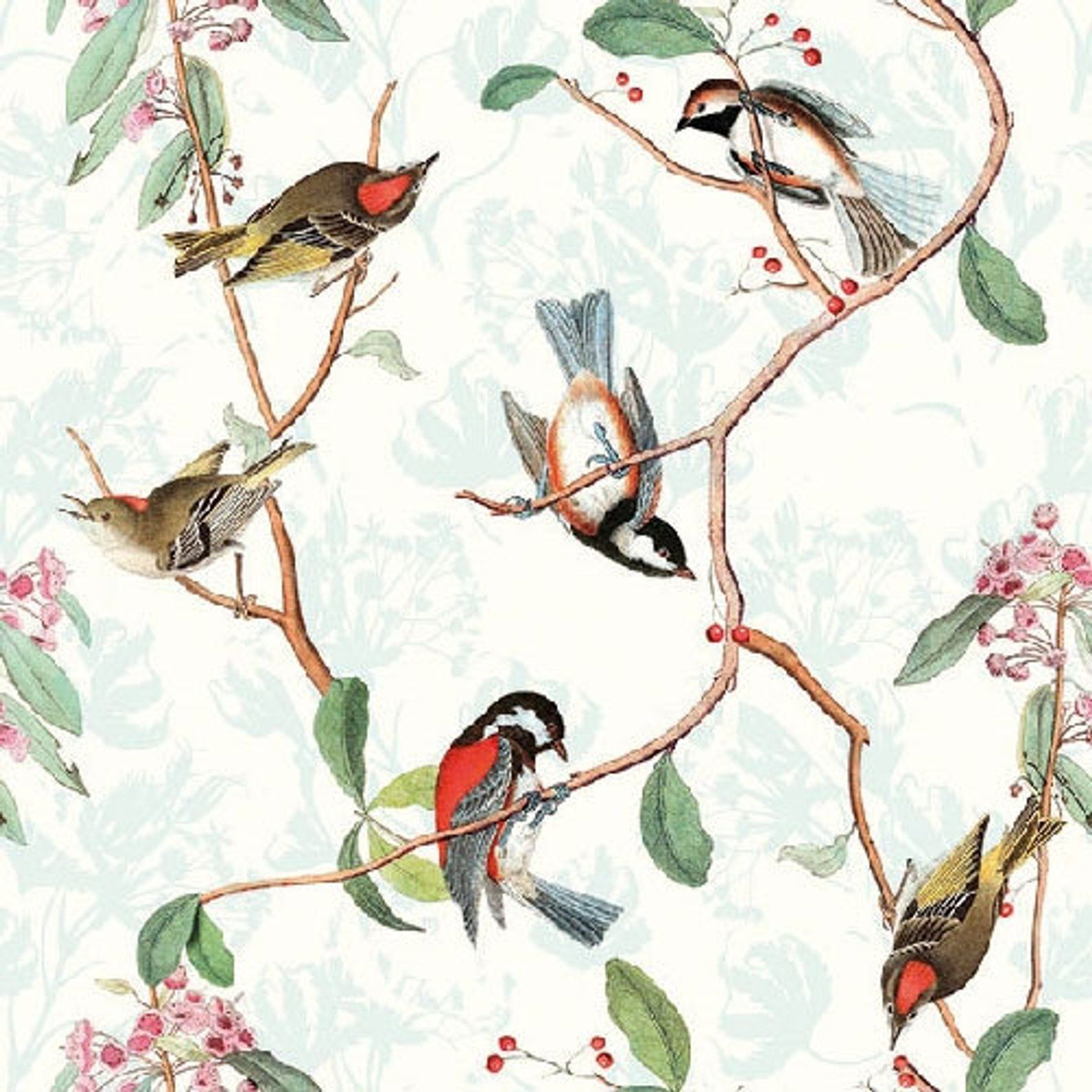 4x Paper Napkins for Decoupage Decopatch Craft Birdsong