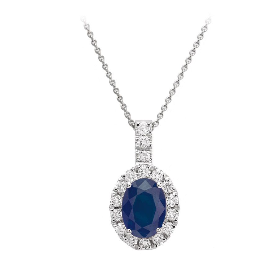 I love this diamond and blue sapphire pendant in 18k white gold on i love this diamond and blue sapphire pendant in 18k white gold on vashi aloadofball Image collections