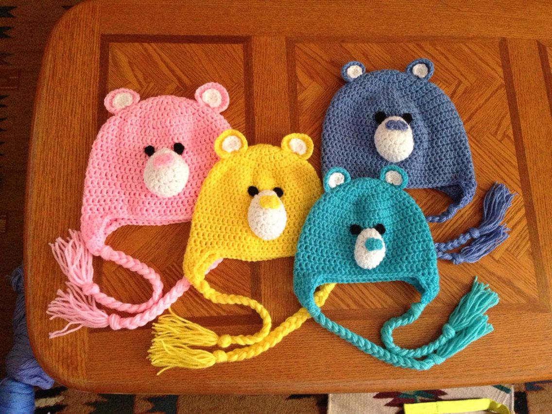 SPECIAL 4 Care Bear Hat Set