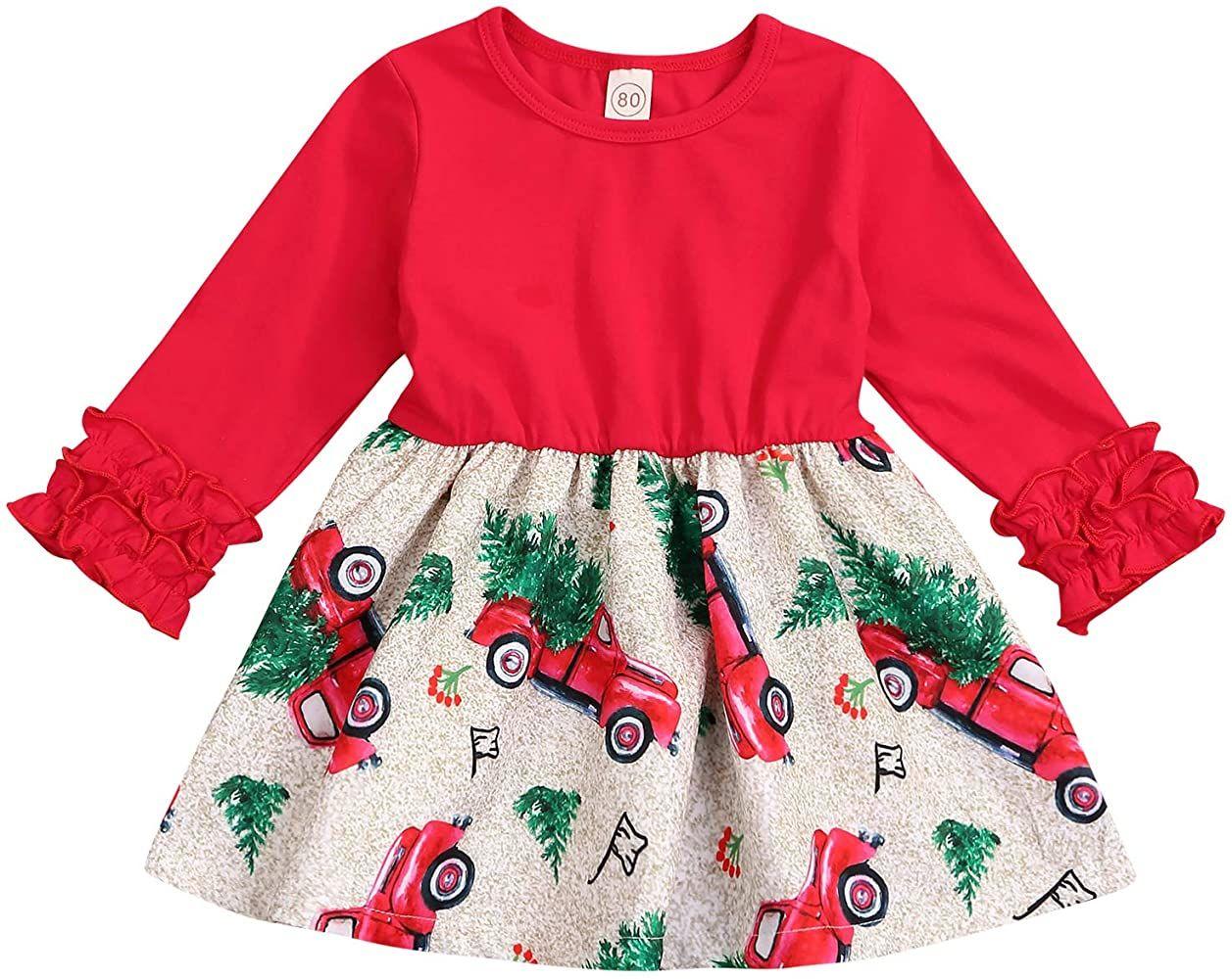 Baby girl christmas dresses, Toddler christmas dress, Christmas