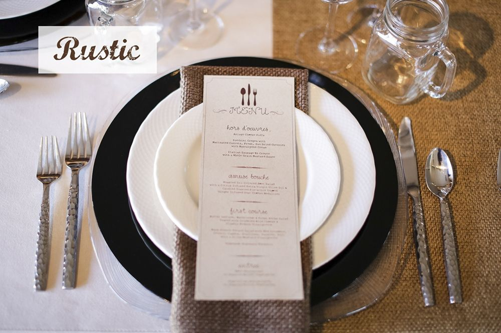 Wedding Place Settings And Table Design Ideas
