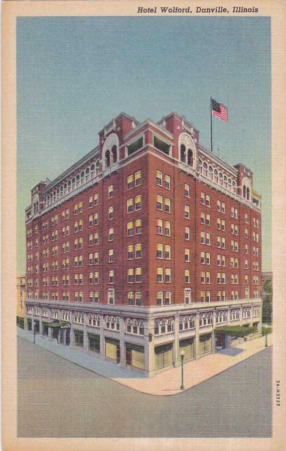 Hotel Wolford Danville Illinois Vintage By Postcardsofthepast 2 50