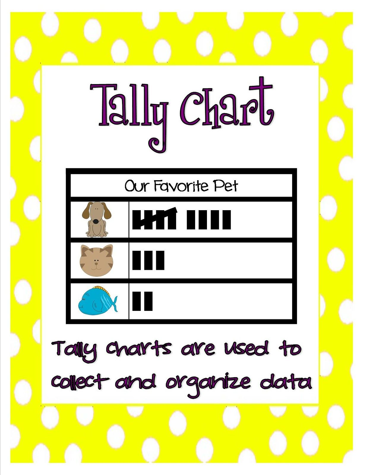 Graphing Posters 1st 4th Grade Polka Dots