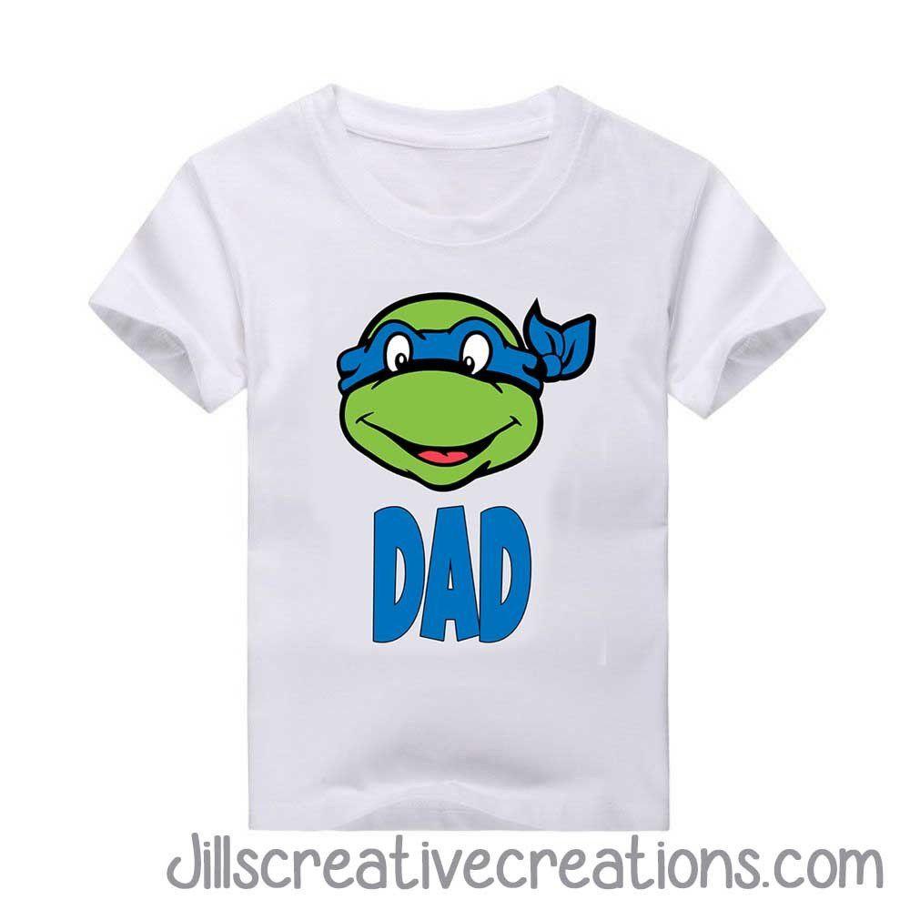 Teenage Mutant Ninja Turtle Birthday Shirt, Dad en 2018 | junior ...