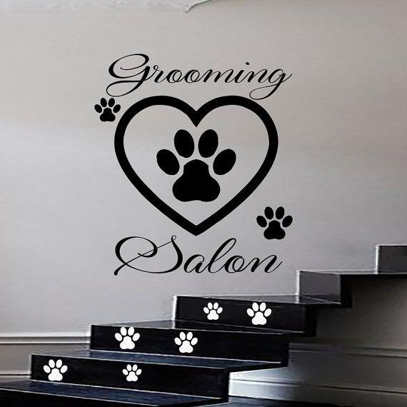 Dog Wall Decals Grooming Salon Decal Vinyl Sticker Pet ...