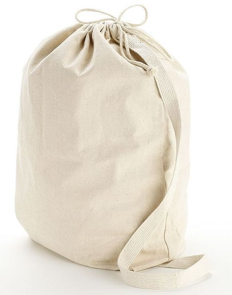 Wholesale Heavy Canvas Laundry Bags W Shoulder Strap Small Medium