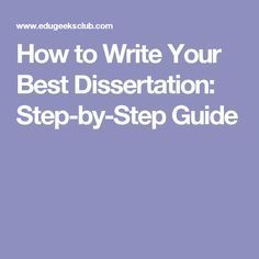 master thesis writing guide
