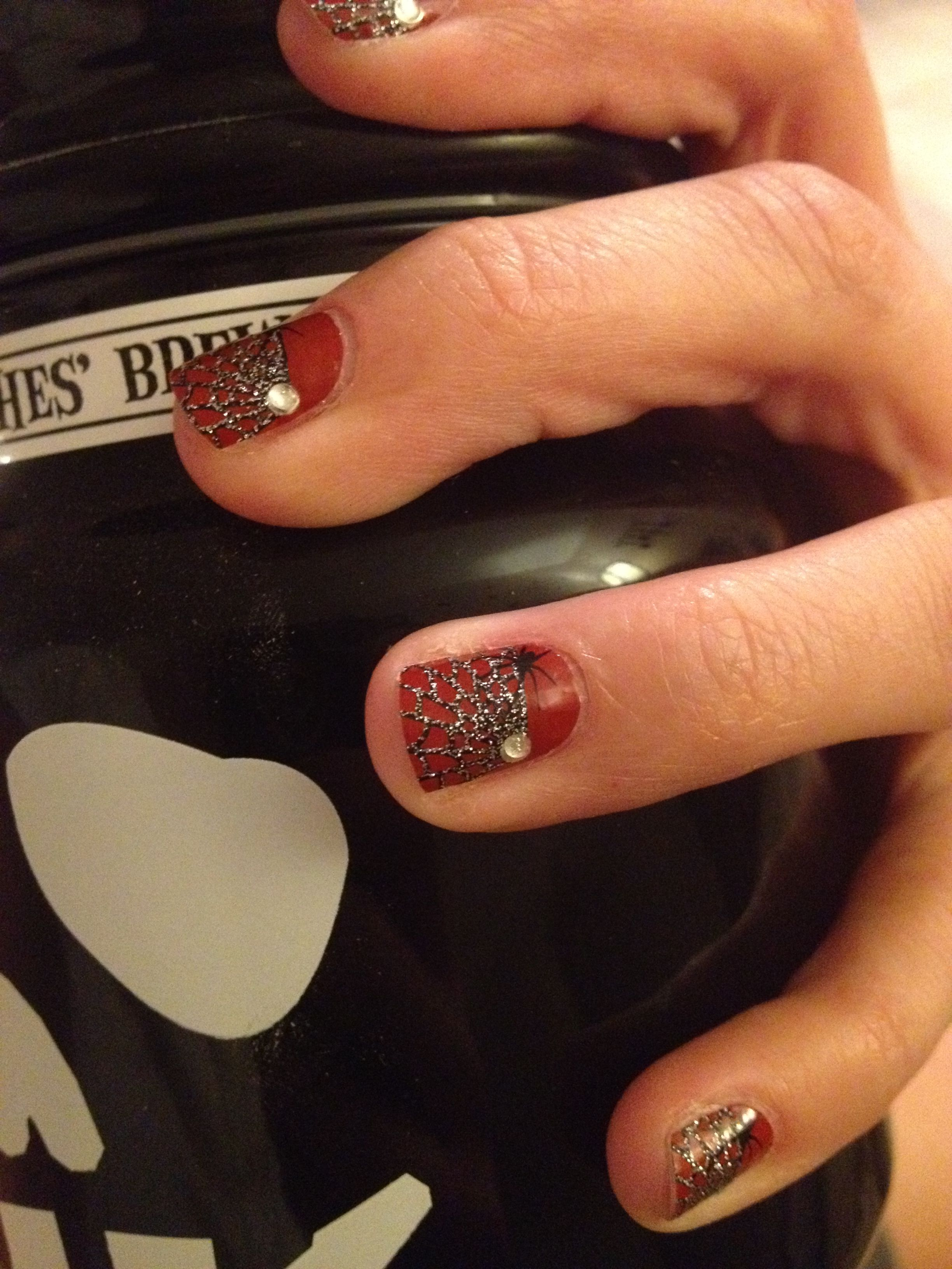 One of my favorites. Halloween nails! KiSS nail dress polish strips ...