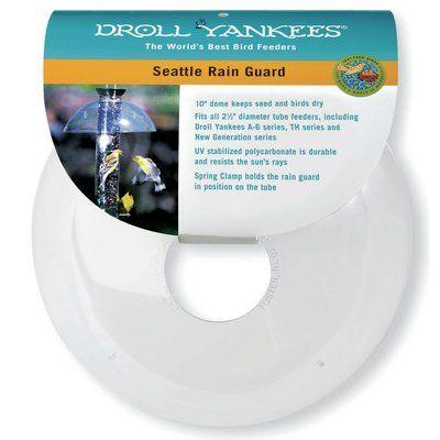 Droll Yankees Seattle Rain Guard Dome Fits Tube Bird Feeder